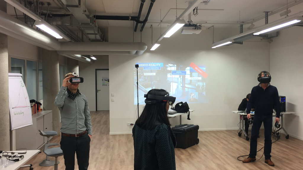 Employees of TÜV Nord at the VR Workshop